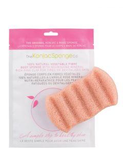 The Konjac Sponge 6 Wave Body Sponge Pink Clay