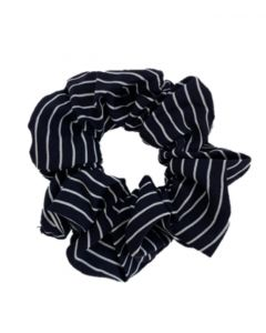 JA•NI hair Accessories - Hair Scrunchie, The Navy Striped