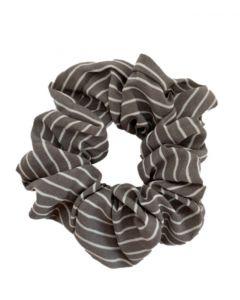 JA•NI hair Accessories - Hair Scrunchie, The Grey Striped