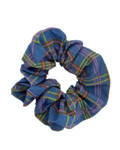 JA•NI hair Accessories - Hair Scrunchie, The Blue Checkered