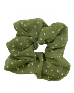 JA•NI Hair Accessories - Hair Scrunchies, The Green Dots