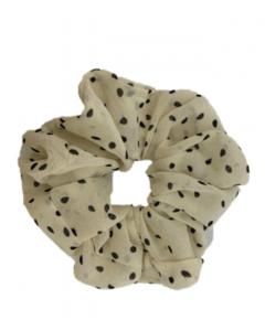 JA•NI Hair Accessories - Hair Scrunchies, The White Dots