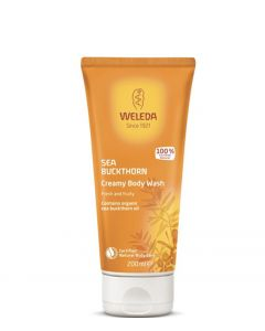 Weleda Sea Buckthorn Creamy Body Wash, 200 ml.